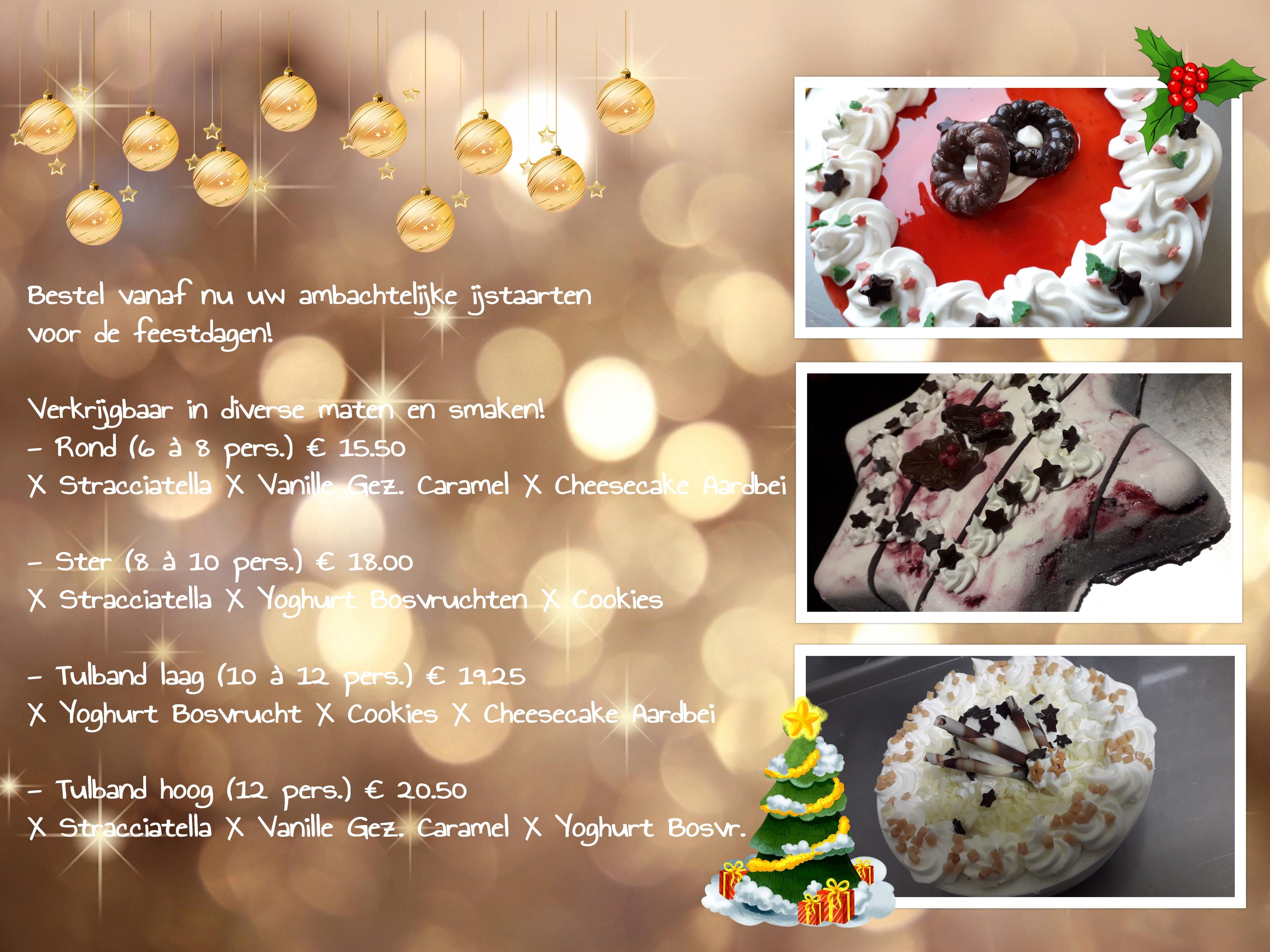 collage kerstijstaart in jpg